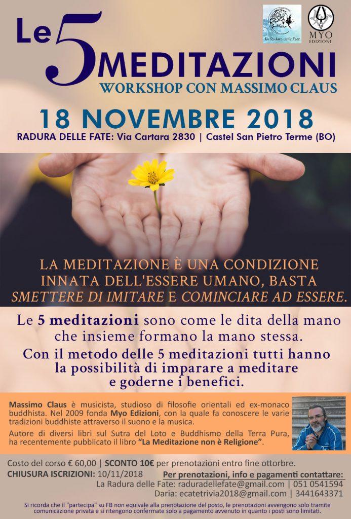 Workshop 5 Meditazioni con Massimo Claus